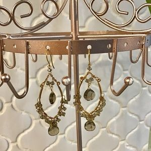 Anthropologie Beaded Chandelier Earrings